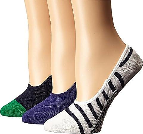 Sperry Top-Sider Women's Canoe Liner Patterns 3-Pack White Socks Women's 9-11 Sock (5-9 Shoe)