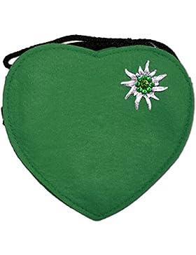 Trachtenland - Herz Trachtentasche mit Edelweiß, Hirsch oder Herz Applikation - Schöne Handtaschen zum Oktoberfest...