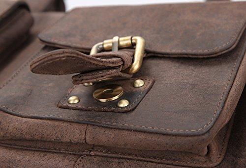 LEABAGS Munich borsa vintage in vera pelle di bufalo - Noce moscata Noce moscata