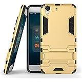 """Funda Huawei Y6 II / Honor 5A, LTWS Escabroso Fuerte Tenaz [Alto Impacto] [Tarea Pesada] [A Prueba de Choques] [Resistencia a las Caídas] [Híbrido 2 en 1] Duro Silicona Caucho Doble Capa Protectore Teléfono Caso con kickstand Para Huawei Y6 II / Honor 5A 5.5"""" (Gold)"""