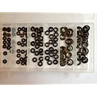 "120 Piece Assortment Imperial Genuine Starlock Washers, Push on Clips for Round Shaft, contains 1/16"", 3/32"", 1/8"", 3/16"", 1/4"", 5/16"" (arandelas StarLock)"