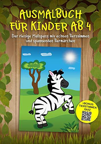 Ausmalbuch für Kinder ab 4: Der riesige Malspass mit echten ...