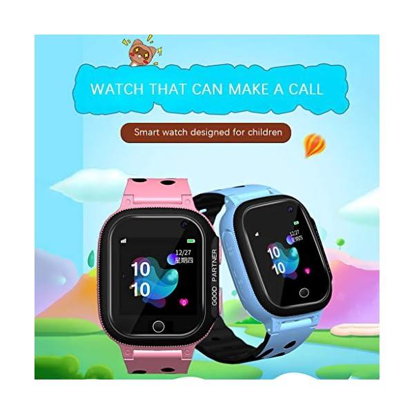 BOBOLover Smartwatch Niños, Reloj Inteligente para Niños Impermeable ip67 con LBS, Hacer Llamadas, Chat de Voz, SOS… 4