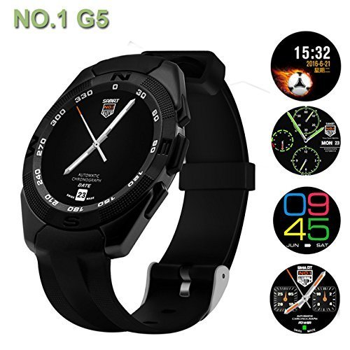 Micromax Canvas Juice A177 COMPATIBLE Smartwatch G5 With SIM and Camera Card Slot Support | Analogue with Android and iPhone| WhatsApp and Facebook| Activity Tracker | Fitness Band | New Arrival Best Selling High Quality Available At Lowest Price BY VELL- TECH  available at amazon for Rs.2599