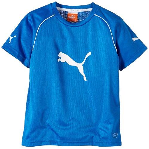 PUMA Kinder Shirt Ringer Jersey, Puma Royal-White, 128, 653984 02 (Kinder T-shirt 2 Ringer)