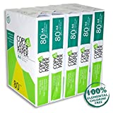2500 Blatt Hochwertiges Premium Druck- und Kopierpapier von Copy & Laserpaper | DIN A4 80 g | weiß | Druckerpapier | Fax | Fotokopierpapier | Laserpapier | Universalpapier
