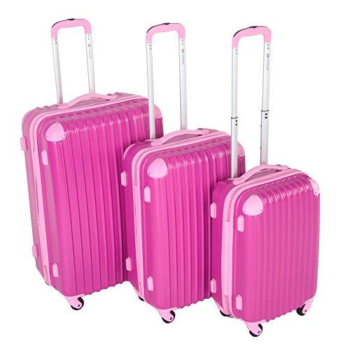 Travelhouse Hard Shell Travel Luggage Set of 3 TSA Locks Lightweight suitcase On Wheels Holdall (20/24/28 inch)
