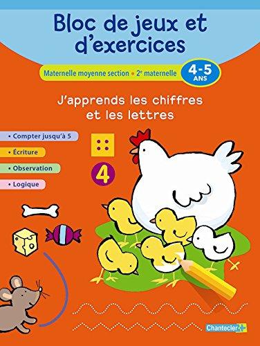 Bloc de jeux et d'exercices - J'apprends les chiffres et les lettres (4-5 a.)