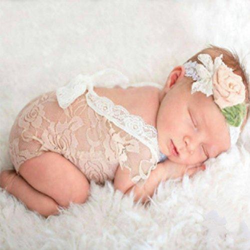 Vkospy Trajes recién Nacido del bebé del cordón del Mameluco recién Nacido...