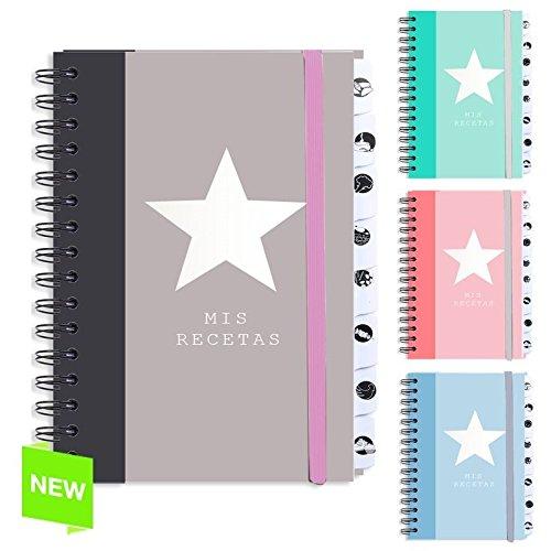 D'CASA dcasa - Libro Recetas Original Estrella Color - Beige Pardo