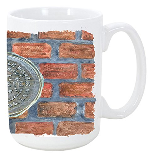 New Orleans watermeter auf Bricks Kaffee Tasse 15Oz 8829CM15 (New Orleans Kaffee-tasse)