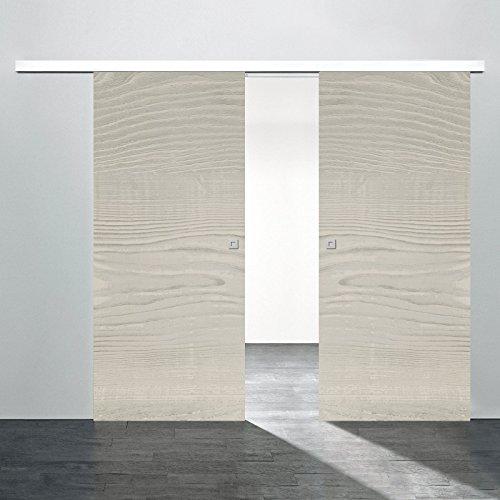 Schiebetür Holz Raumteiler Zimmertür 1700x2035mm 2 flügelig Pinie