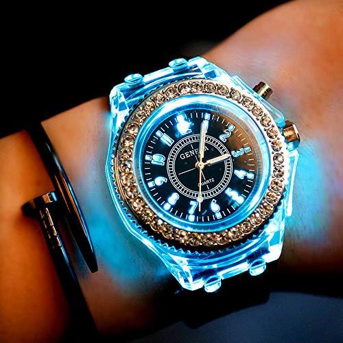 53b3800907e1 Reloj Flash Tendencia De La Moda De Hombres Y Mujeres Estudiantes Pareja  Llevó Relojes Luminosos