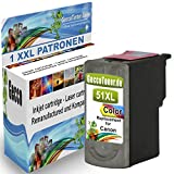 1x Tintenpatrone Ersatz für Canon CL-51 XL Color Farbe Farbig für Canon PIXMA MP140 MP450 MP190 MP210 MP220 MP470 MP460 IP2500 IP1800 IP1900 MX300 IP2600 IP1600 IP2200 IP1700 IP2580 MP160 MP450 X MX310 MP180 MP150 MP170 IP1200 IP1300 Fax JX200 JX210 P JX500 JX510 P JX210 P