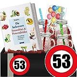 Zahl - 53 | Geschenkbox Powerdrinks | 53 Geburtstag Geschenk