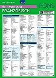 PONS Basiswortschatz auf einen Blick Französisch: Kompakte Übersicht, ca. 1.000 Wörter nach Themen sortiert (PONS Auf einen Blick)