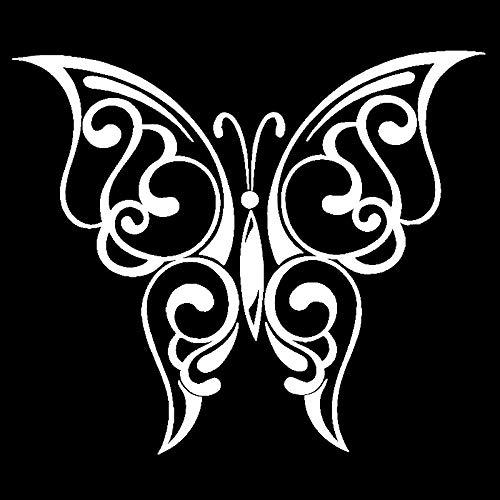 ZHOUHAOJIE Englisch Auto Aufkleber Wasserdicht Sonnencreme 14 7 cm * 12 5 cm Auto Aufkleber Schmetterling Flügel Sehr Schöne Sweep Muster Vinyl Aufkleber -