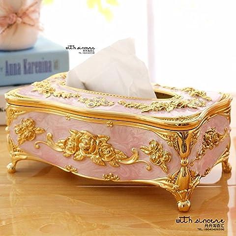 COLLECTOR Acryl-Gewebe Box Box Mode Hotelbuchung in große Serviette box,Rosa gold