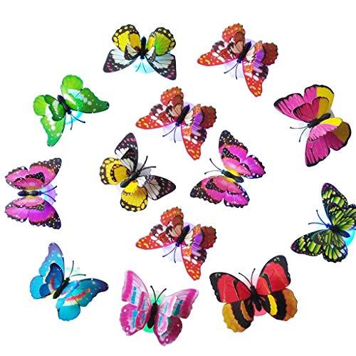 Set di 10 lampade a LED a forma di farfalla, per la casa o la festa, da parete