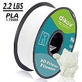 Dikale 3D Drucker Pla Filament 1,75mm 1 kg (335 m / 1099 ft),Maßgenauigkeit +/- 0,02 mm, 1 kg Spule (2.2lbs),warmweiß