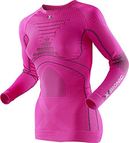 X-Bionic Eacc.Evo - Maglia intima da donna, manica lunga Rosa/Carbone