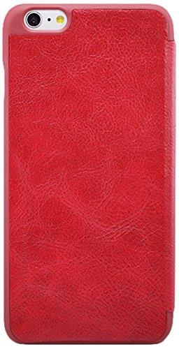 Nillkin IP6-Qin-Red Ledertasche für Apple iPhone 6 rot Red Unlocked Smartphone