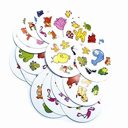 Juego de cartas Juego de cartas Juego de cartas Dobble rompecabezas juguetes para niños - Spot it Game (Los animales)