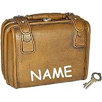 Preisvergleich für Spardose Koffer - mit Schlüssel - stabile Sparbüchse für die Reisekasse aus Kunstharz - Reisen Geld Sparschwein Reisekoffer Urlaubskasse Kofferkasse