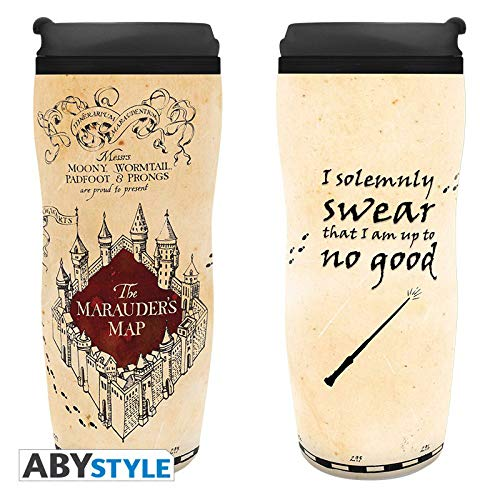 """ABYstyle - HARRY POTTER - Tazza da viaggio isotermica """"Mappa del malandrino"""""""