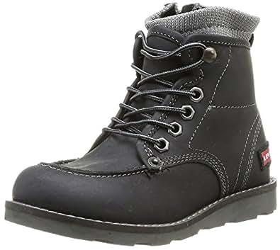 Levi's Wiscon, Boots garçon - Noir (8 Noir), 28 EU