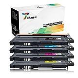 Tonerkartuschen Samsung CLT-406 Kompatibel, 7Magic Samsung CLT-P406C/ CLT-406S, CLT-K406S CLT-C406S CLT-M406S CLT-Y406S Toner Patronen Kompatibel für Samsung Xpress C460W C460 C410W CLP-360 CLP-360ND CLP-365 CLP-365W CLX-3305 CLX-3300 Drucker(Schwarz/ Cyan/ Gelb /Magenta, 4 Pack)