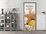GRAZDesign 791584_67x213 Tür-Bild Spruch Relax Zone | Aufkleber für Wohnzimmer/Bad | Türfolie Selbstklebend (67x213cm//Cuttermesser)