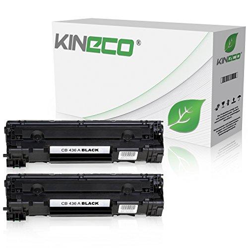 Preisvergleich Produktbild 2 Kineco Toner kompatibel zu HP CB436A 36A LaserJet M 1120a h n w MFP, 1522NF MFPm, M 1500 Series, P 1503n, P 1504n, P 1505n, P 1506n - Schwarz je 2.000 Seiten