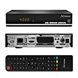 Strong SRT 7007 HD Satelliten Receiver mit Display 【Free-to-Air, HDTV, HDMI, Ethernet, USB Mediaplayer, Scar】 schwarz