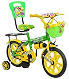 #8: Loop Cycles SKOOLMATE Parrot Green Yellow 14 Inches Bicycle For 3 to 5 Years Kids Unisex With Bottle