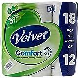 Triple Velvet Papier Toilette 1102048, kscatv18, blanc (Lot de 18)