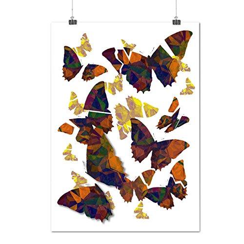 papillon-cubisme-art-punaise-matte-glace-affiche-a2-60cm-x-42cm-wellcoda