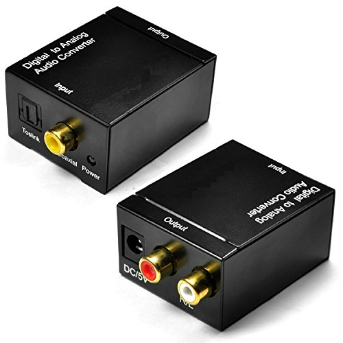 Rts™ Digital to Analogue Optical Audio Convertor RCA input and Optical coaxial Output