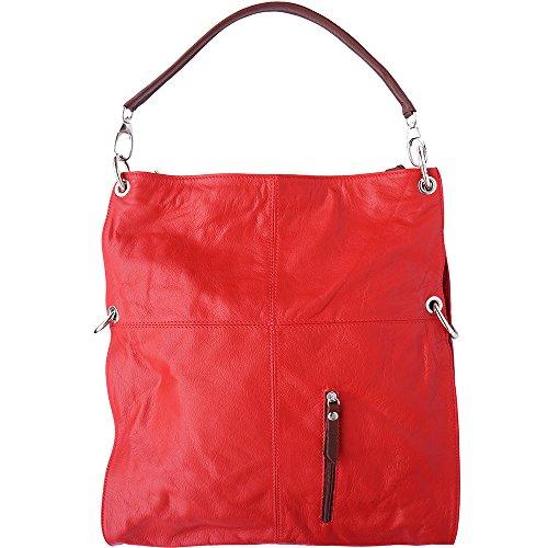 Hobo-Tasche 3019 Rot-Braun