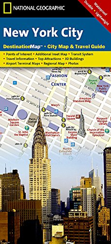 New York City: 1:16500 (National Geographic Destination City Map) (2015 Vereinigte Staaten-map)