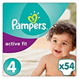 Pampers - Active Fit - Couches Taille 4 (8-16 kg) - Pack Value+ (x54 couches)