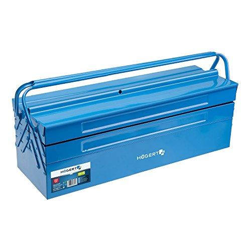 Werkzeugkasten (Metall) 530 x 200 x 200 mm Werkzeugkoffer Werkzeugkiste Werkzeugbox von SECOTEC®