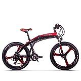 Unbekannt Rich Bit Aktualisiert Elektro Fahrrad Mountainbike MTB Faltrad Hydraulische Scheibenbremse Aluminium 26-17 Zoll Klapprahmen Shimano 21-Fach LCD Kleiner Computer Smart E-Bike