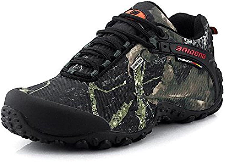 KANGLE Zapatillas de Senderismo Hombre de Camuflaje Impermeable, 42 Unidades  -