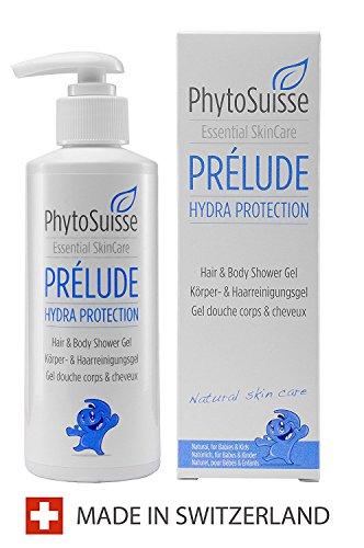 PhytoSuisse Prélude Hydra Protection - Gel Douche & Shampoing pour bébé et et personnes allergiques, 200 ml