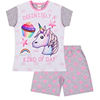 Definitely a Kind Day Emoji Unicorn Cupcakes Short Pyjamas Girls
