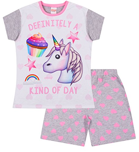 Definitely a Kind of Day Emoji Unicorn Cupcakes Short Pyjamas Pj Girls Pjs