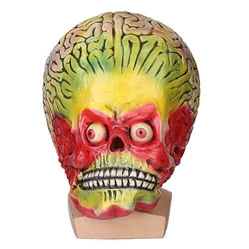 Casavidas Halloween Cosplay Alien Skull Martian Mask Scary Brain Party Kostüm