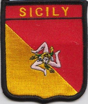 Italien Sizilien Flagge bestickt Patch (A406)