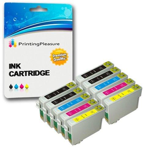 10 Cartucce d'inchiostro compatibili per Epson Stylus S20, S21, SX100, SX105, SX110, SX115, SX200, SX205, SX209, SX210, SX215, SX218, SX400, SX405, SX410, SX415, SX510W, SX515W, SX600FW, SX610FW, D78, D92, D120, DX400, DX4000, DX4050, DX4400, DX4450, DX5000, DX5050, DX6000, DX6050, DX7000, DX7400, DX7450, DX8400, DX8450, DX9200, DX9400F, DX9450, Stylus Office B40W, B300F, BX310FN, BX600FW, BX610FW | T0711, T0712, T0713, T0714 (T0715)